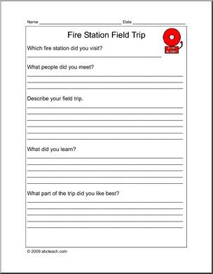 report form field trip fire station elementary report form for a field trip to a fire. Black Bedroom Furniture Sets. Home Design Ideas
