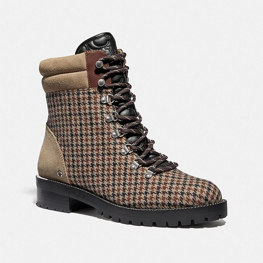 Womens Military Lace Up Combat Boots w Lug Sole /& Metal Hardware