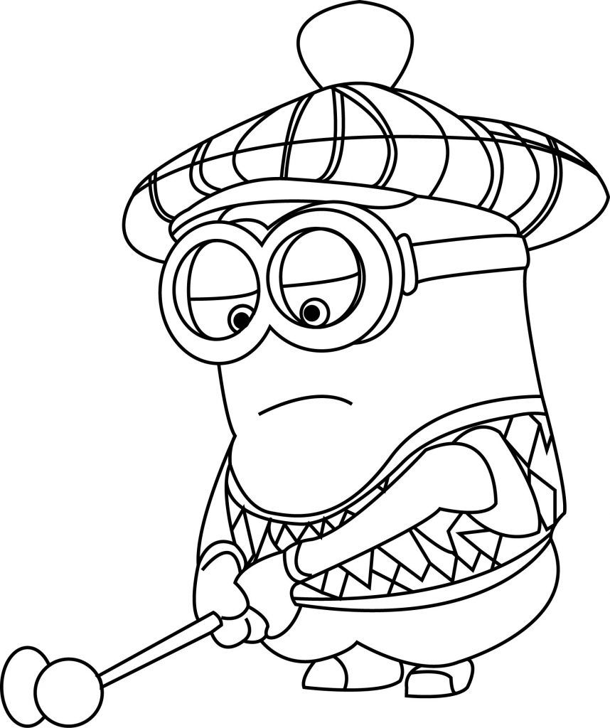 Golf Coloring Pages Minion Coloring Pages Sports Coloring Pages