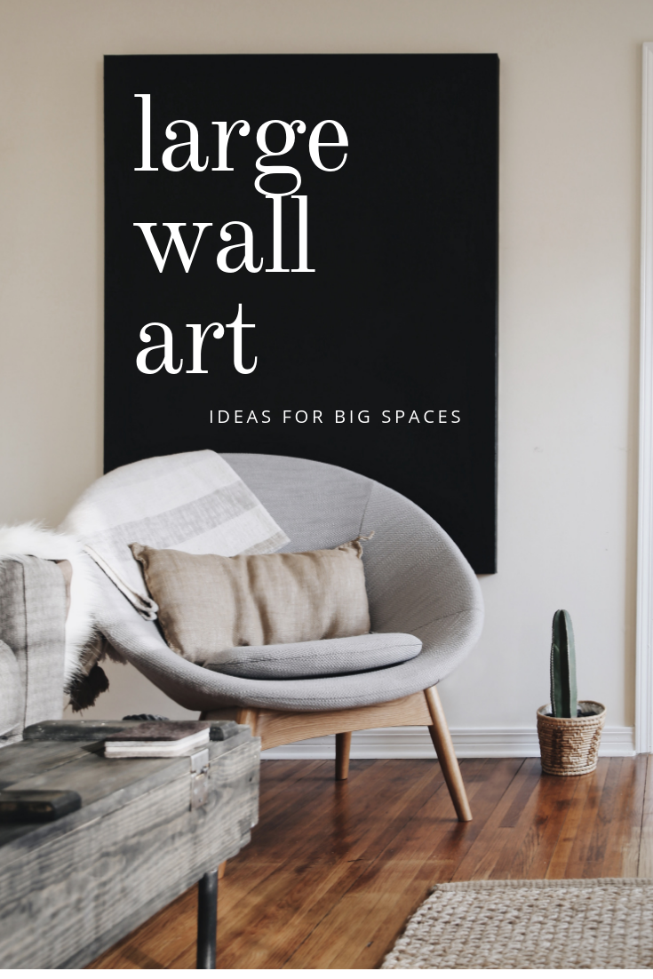 11 Oversized Wall Art Ideas for Big Spaces  Simple wall decor