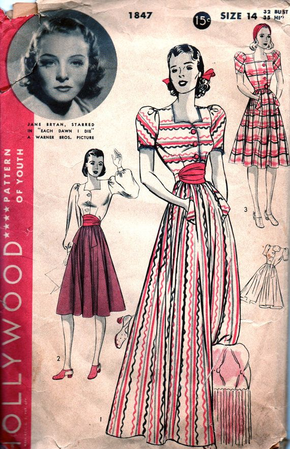 Pin By Vintage Pattern Store Emporium On 1940s Vintage Patterns Fashion Vintage Dress Patterns Vintage Patterns Vintage Costumes