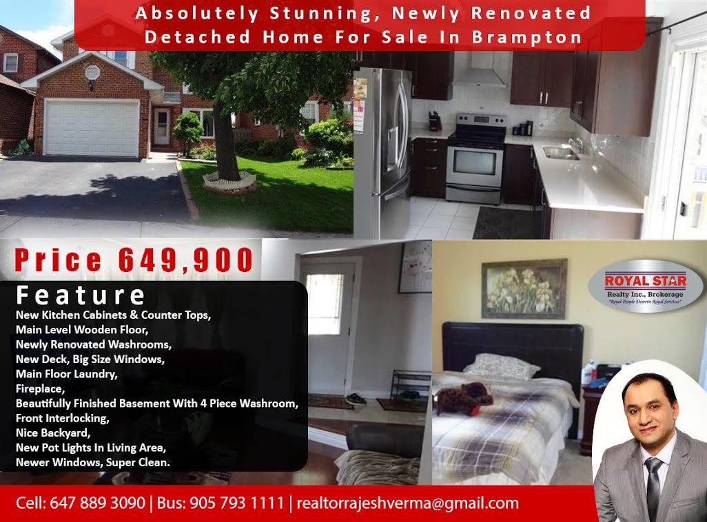 Absolutely stunning newly renovated detached home for sale in absolutely stunning newly renovated detached home for sale in brampton price 649900 feature property solutioingenieria Choice Image