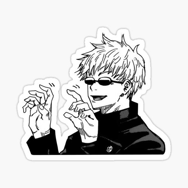 Funny Satoru Gojo Jujutsu Kaisen Sticker By Lisandrass In 2021 Anime Printables Jujutsu Cute Stickers
