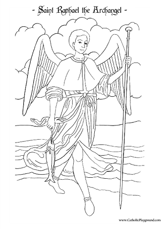 Saint Raphael the Archangel Coloring Page: September 29th ...