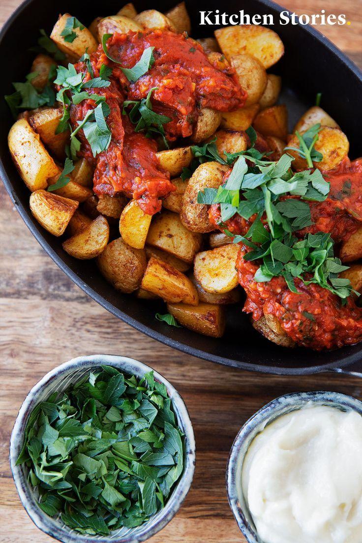 Papas al horno españolas con salsa brava   - Essen aus aller Welt -