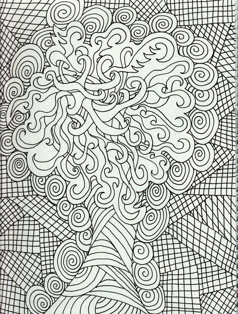 Geometric Challenging Free Adults Coloring Pages - Enjoy Coloring ...