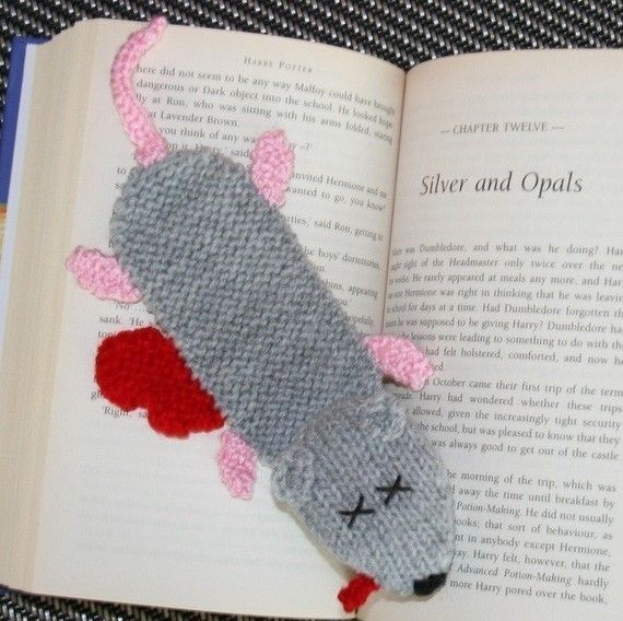 Squashed rat bookmark  PDF KNITTING PATTERN by kooklacreations, $3.50