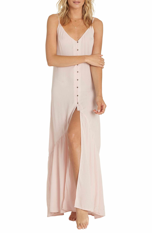 13cc0b712b4a8 Main Image - Billabong Dance on Air Button Front Maxi Dress Robes  Décontractées Pour Femmes,