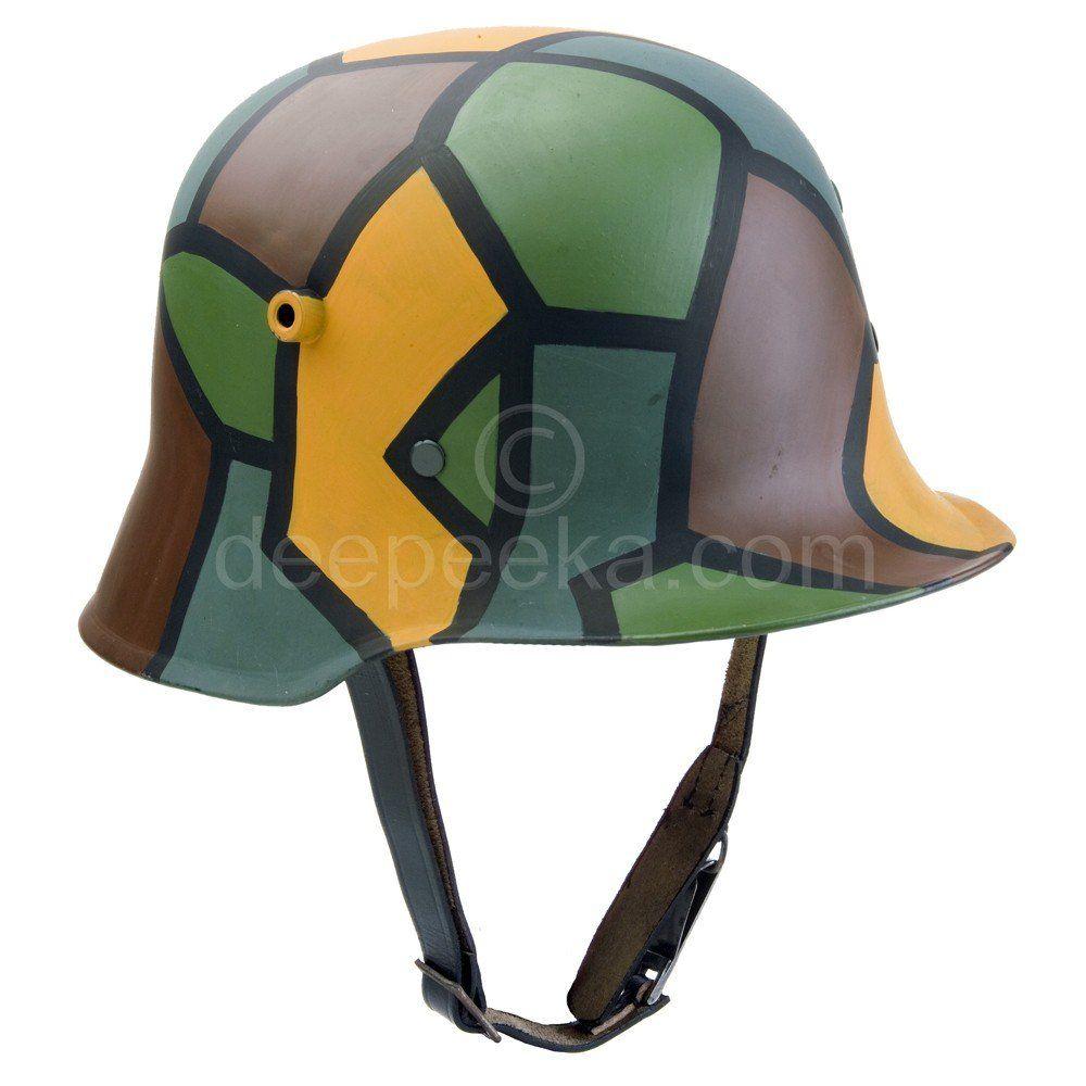M1918 worldwar helmet camouflage pattern