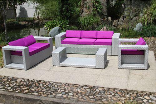 Soldes Salon De Jardin Rsine Tresse Gris. Top Chaise De ...