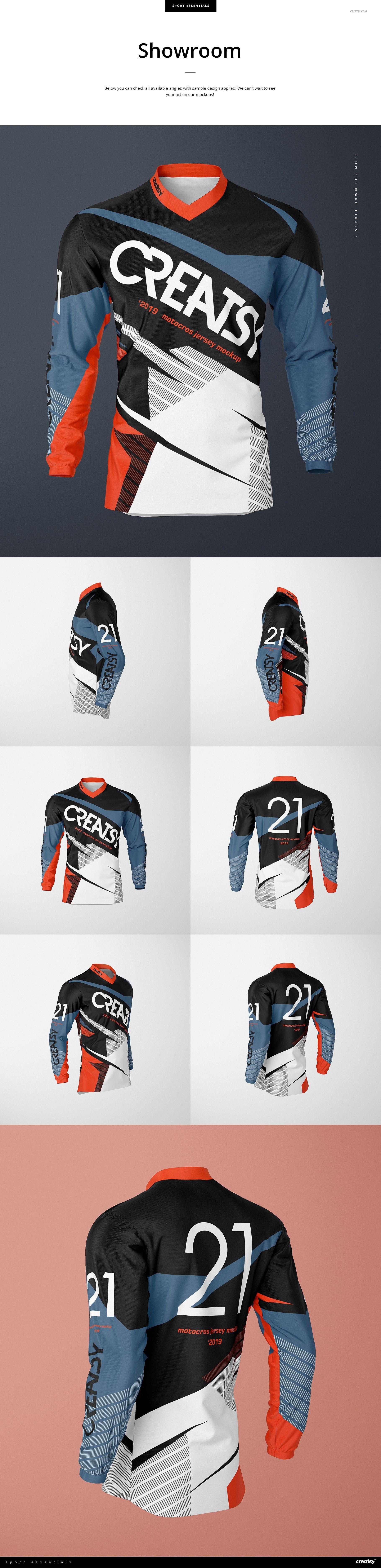 Download Motocross Jersey Mockup Set | Motocross, Jersey, Business ...