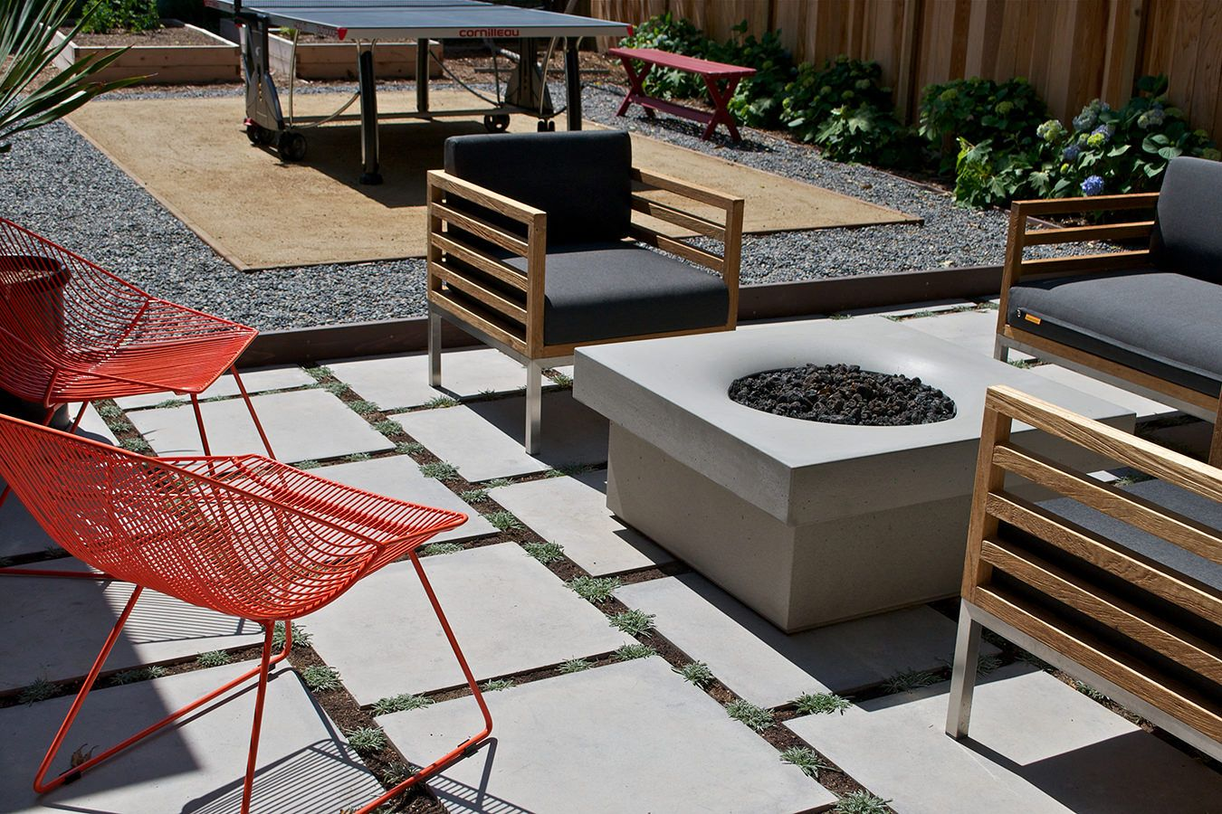 Ping Pong Court Design Fire Pit Solus Decor Vancouver Canada