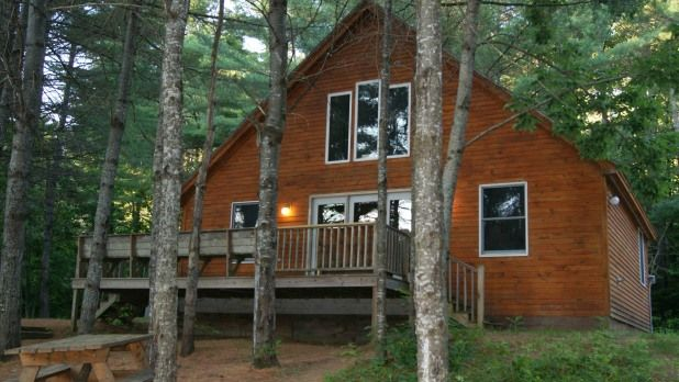 Parlin Cabin At Sunset With Images Maine Vacation Rentals Cottage Rental Cabin