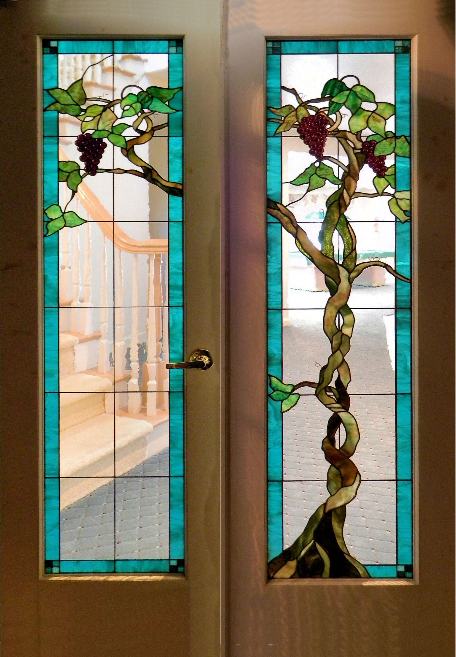 Wine cellar doors stain glass pinterest stained glass projects