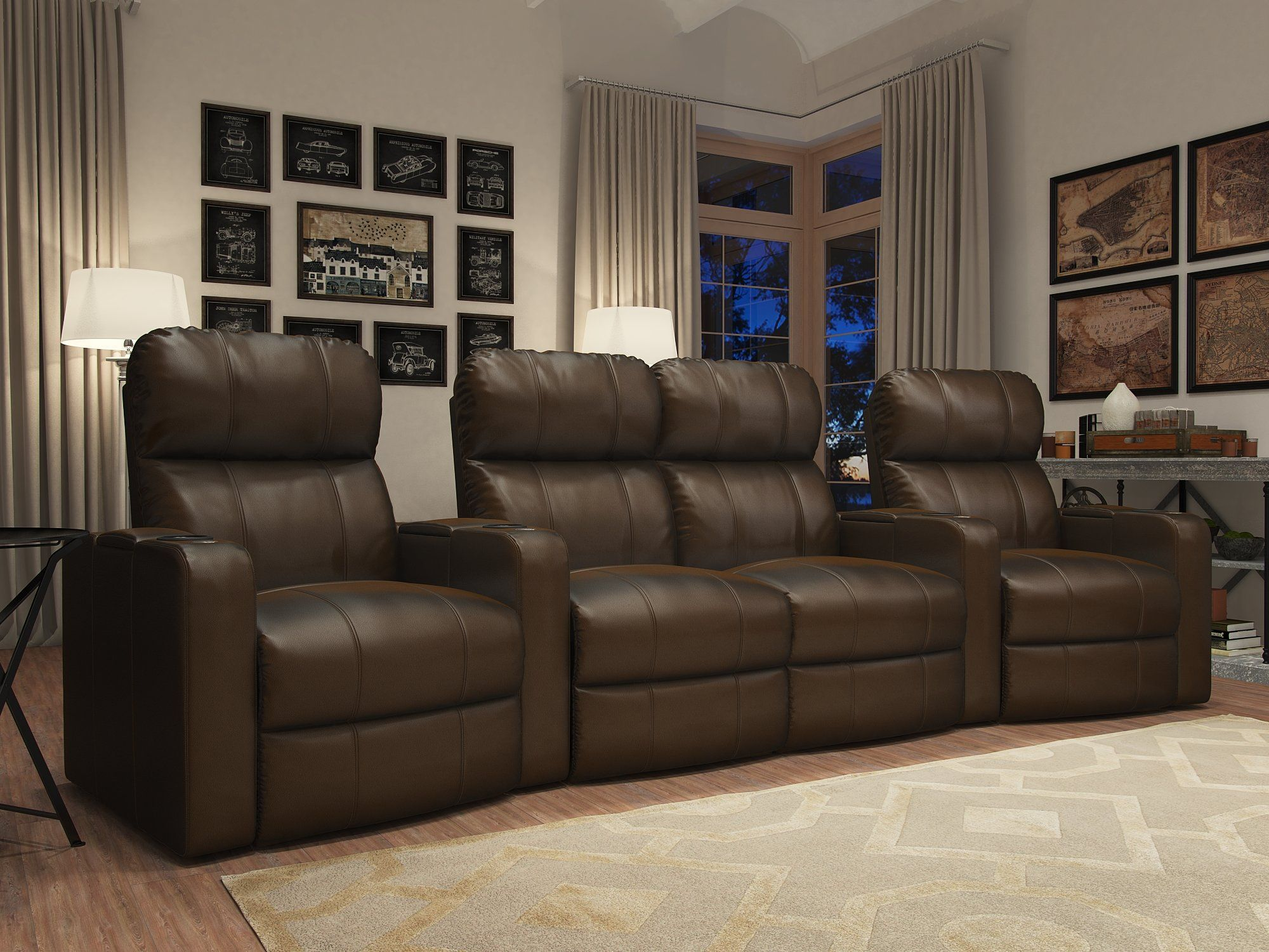 Home Theater Loveseat (Row of 4) | Home Theater Ideas | Pinterest ...