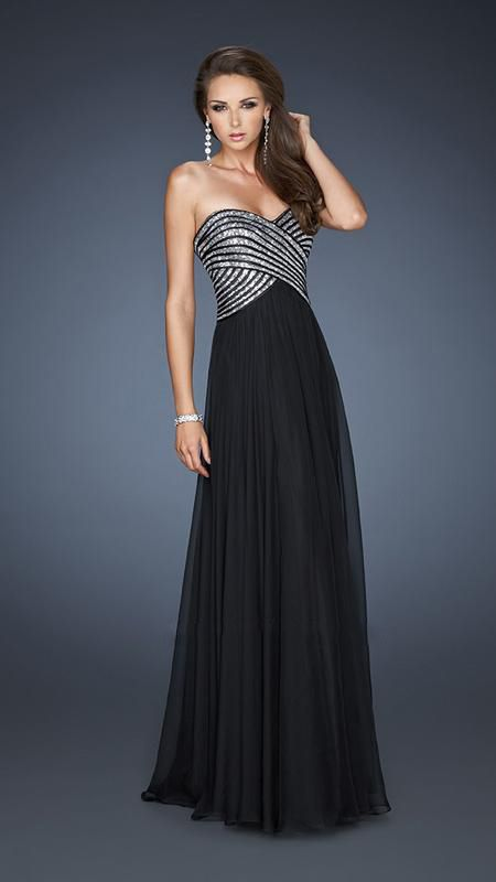 Strapless Black Prom Dress_Black Dresses_dressesss