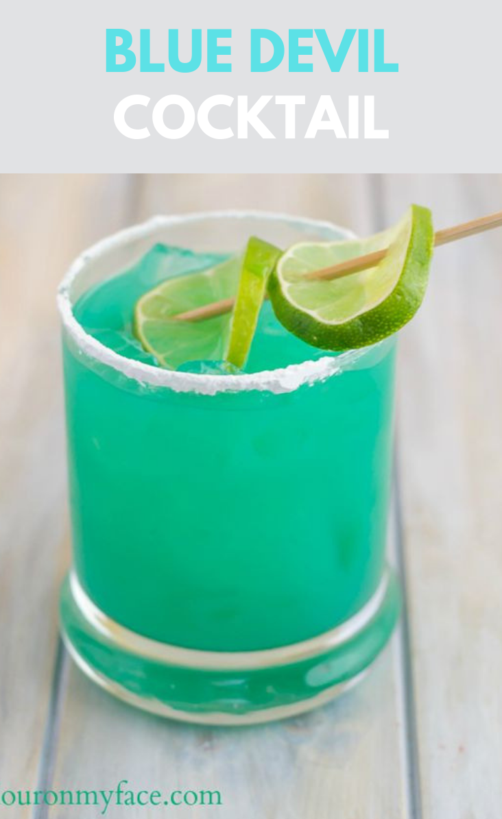 Photo of BLUE DEVIL COCKTAIL RECIPE #drink #drinkcocktail