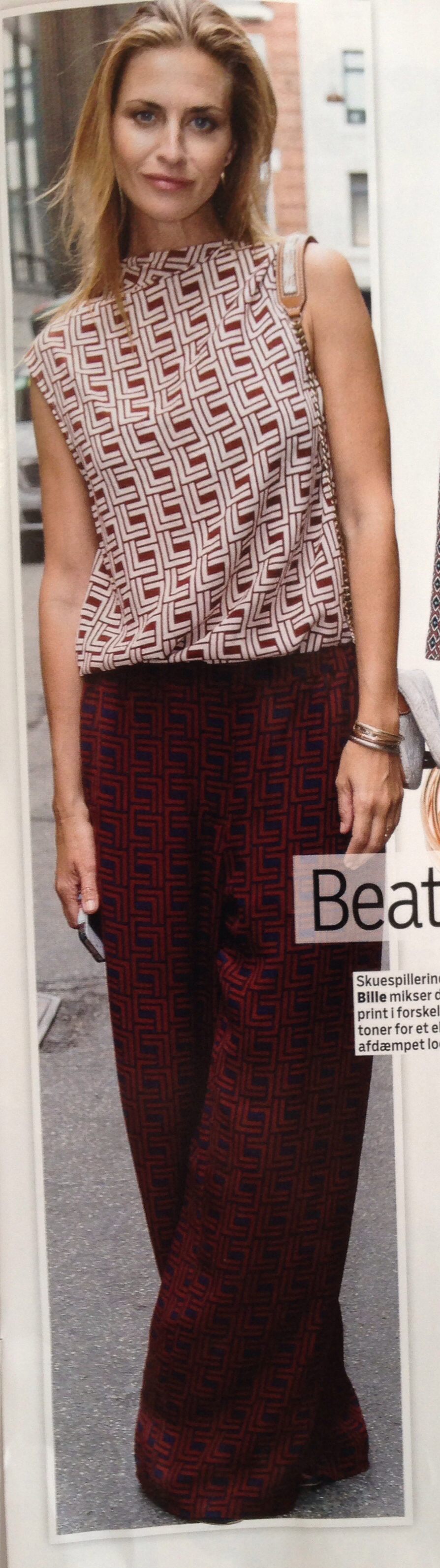 Beate Bille in a great outfit from Day