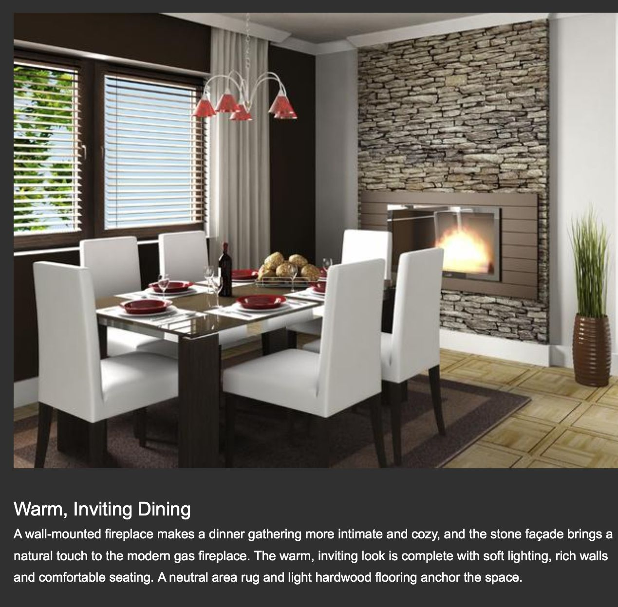 Gas Fireplace In 2019 Dining Room Design Dinner Room Home Decor