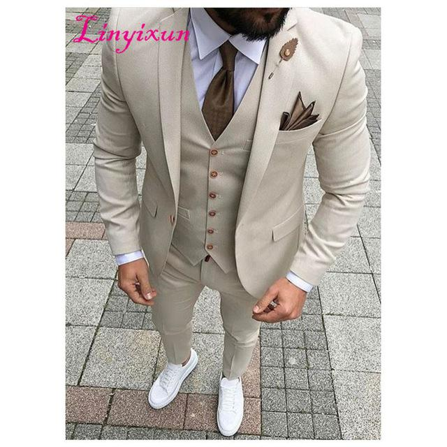 Mens Blue Grey Classic 3 Piece Suit Formal Work Smart Casual Tailored Fit Jacket
