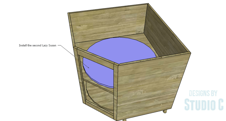 Diy Plans To Build A Diagonal Corner Base Kitchen Cabinet Lazy Susan 2 Diy Plans Corner Base Cabinet Homemade Kitchen Tables