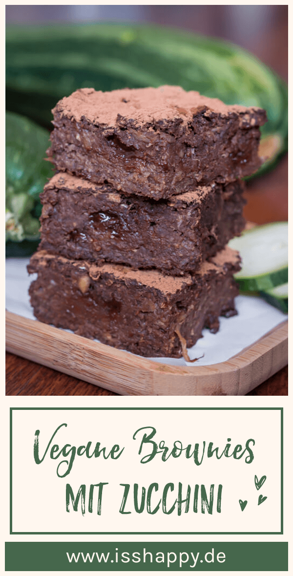 Vegan brownies without table sugar – super juicy with zucchini!