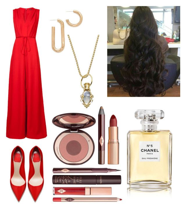 """lil"" by lilabeth on Polyvore featuring ADAM, Charlotte Tilbury, Pamela Love, Temple St. Clair and Chanel"