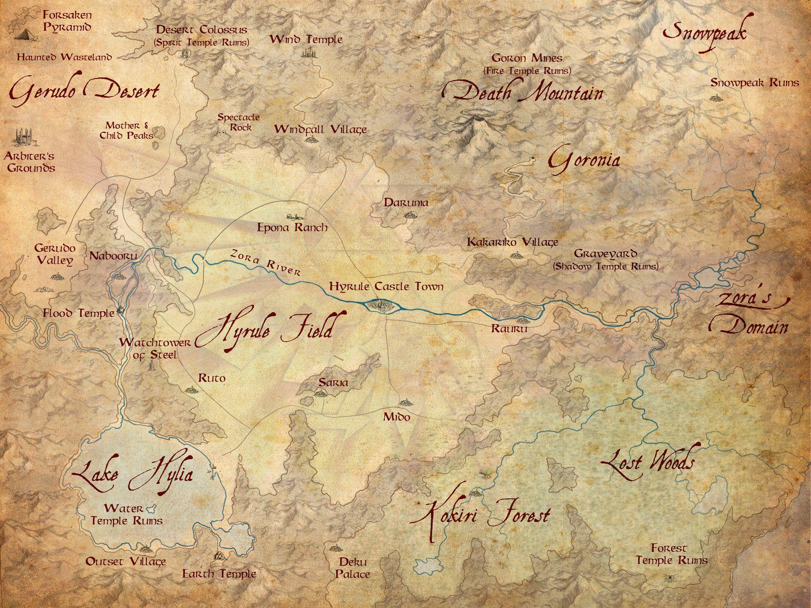 Hyrule Map The Dark Deluge By Mattleese87 On Deviantart