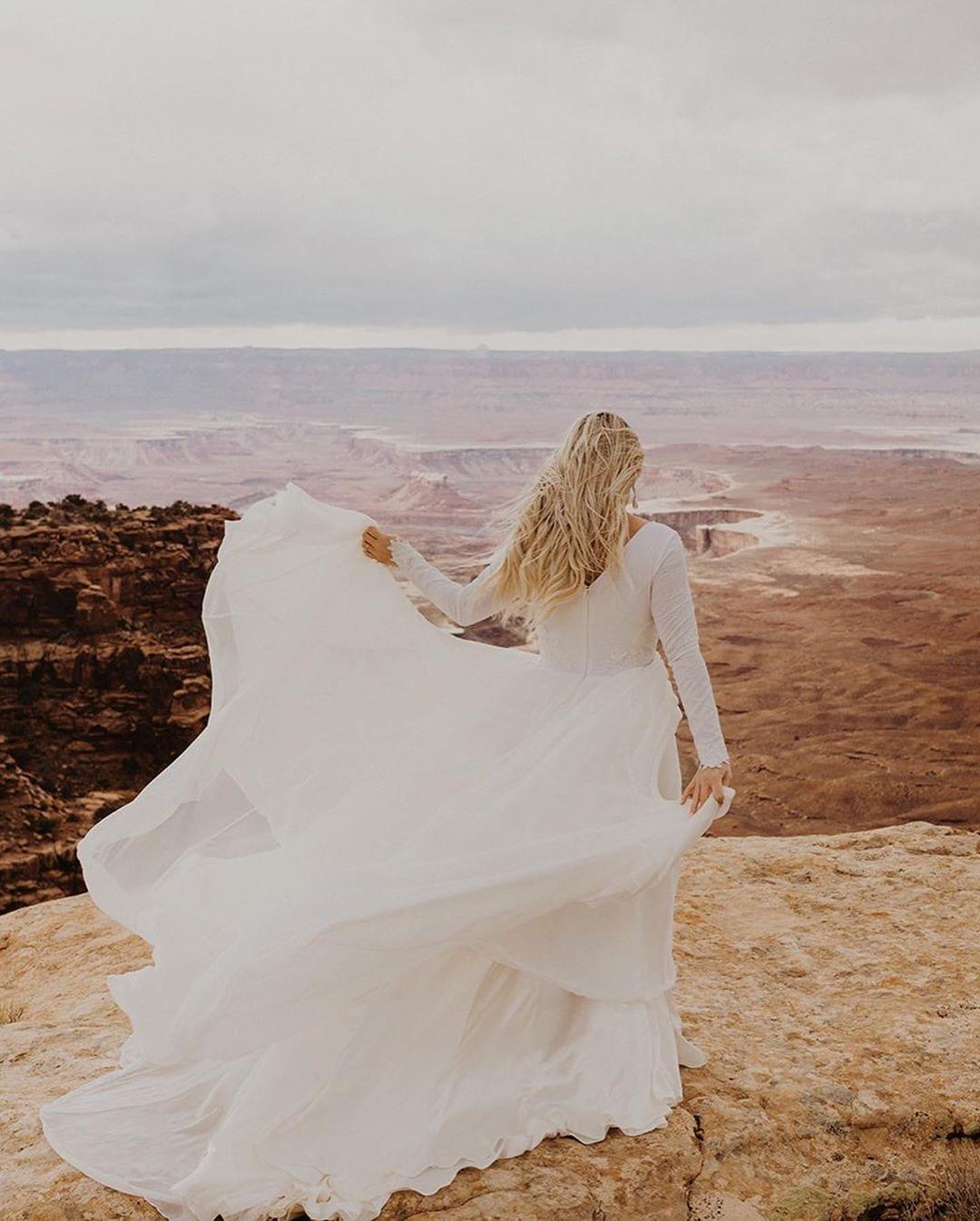 moab elopement   boho desert elopement   kylie morgan photography ...