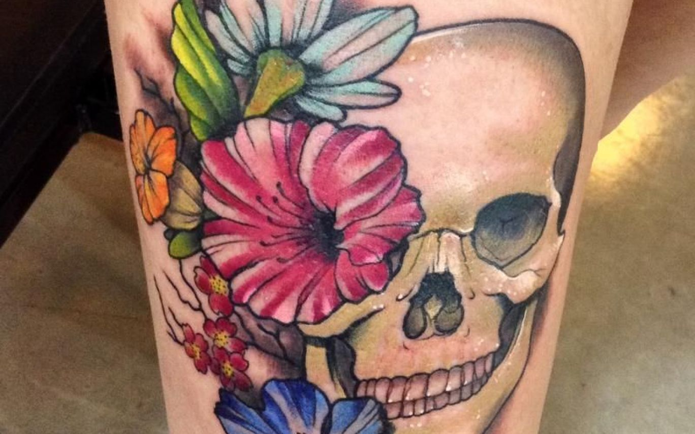Girly Skull Tattoos Google Search Bad Ass Tats Pinterest Skull And