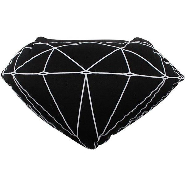 Diamond Supply Co Brilliant Pillow Black 60 Liked On Polyvore Featuring