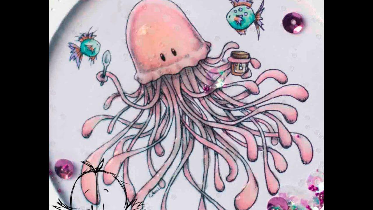 Cómo colorear una medusa con rotuladores Spectrum Noir. Tiddly Inks ...