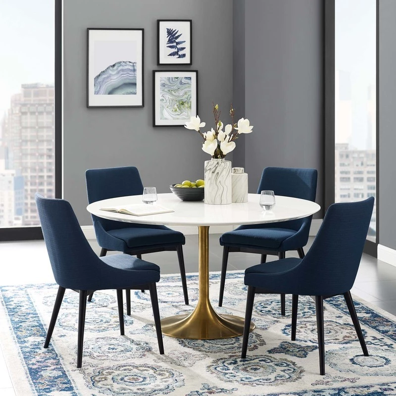 Modway Lippa 54 Round Dining Table Eei 3228 Gld Whi Dining