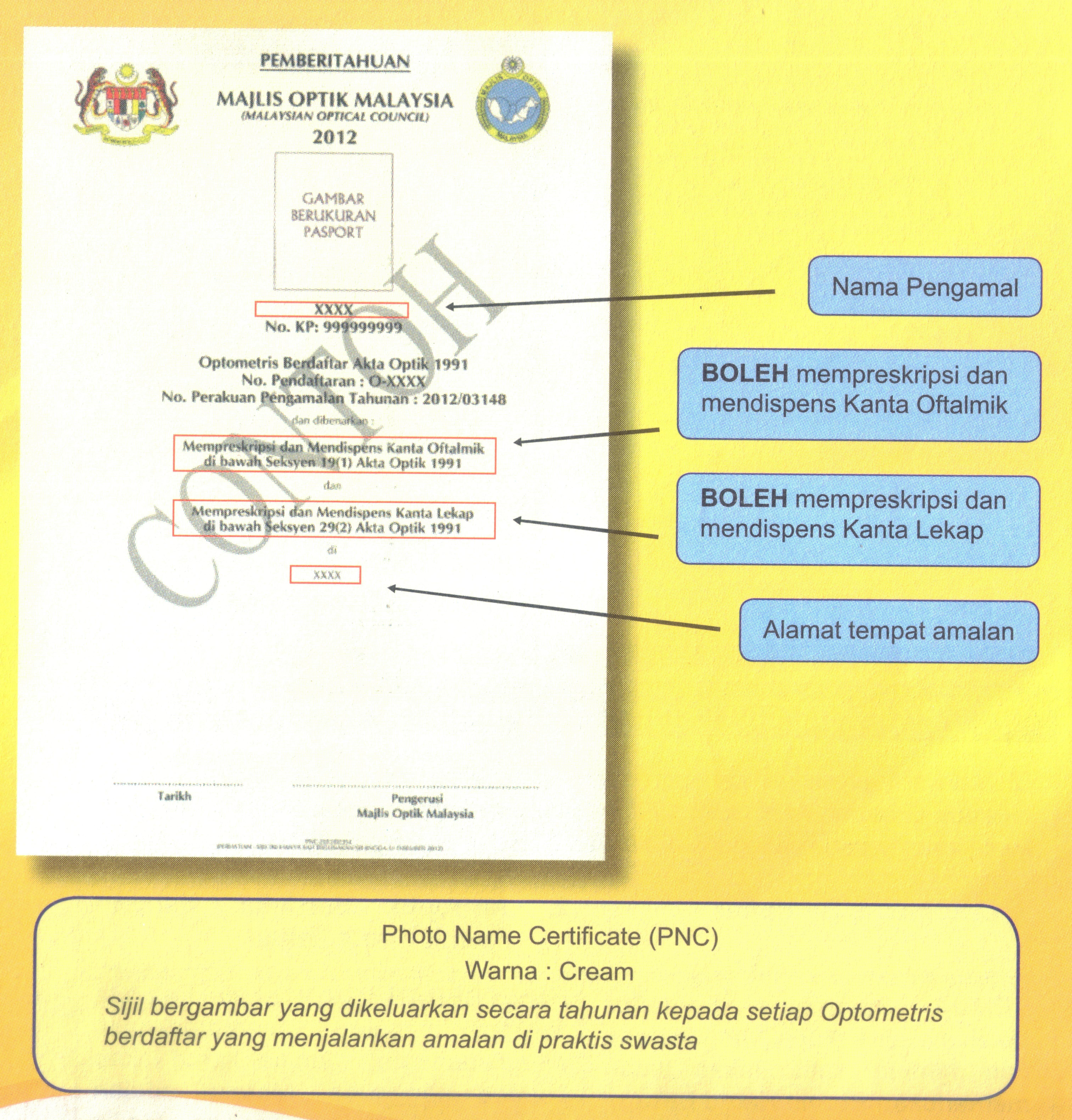 Malaysian optometrists photo name certificate pnc produced by malaysian optometrists photo name certificate pnc produced by malaysia optical council moc xflitez Gallery