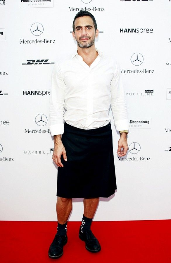 5e30968a26 All the Times Marc Jacobs Wore a Skirt Better Than I Do via @WhoWhatWear