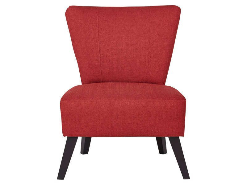 Fauteuil IGOR coloris rouge - Vente de Fauteuil - Conforama