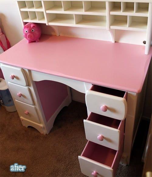 desk for a girls\' room, love the pink   my style   Pinterest   Desks ...