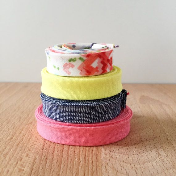 Bias Tape Remnant Pack 4 Different Cotton Designer By