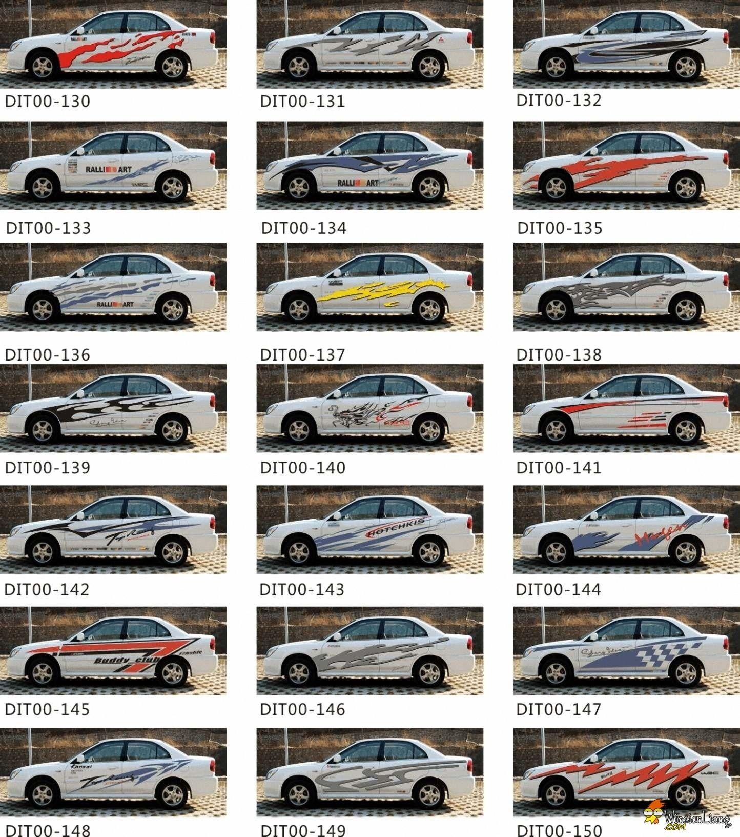 What A Big List Of Car Sticker [ 1632 x 1444 Pixel ]