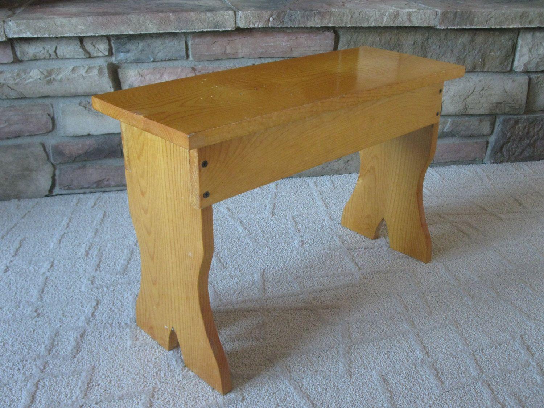 Groovy Small Wood Bench Step Bench Handcrafted Pine Plant Inzonedesignstudio Interior Chair Design Inzonedesignstudiocom