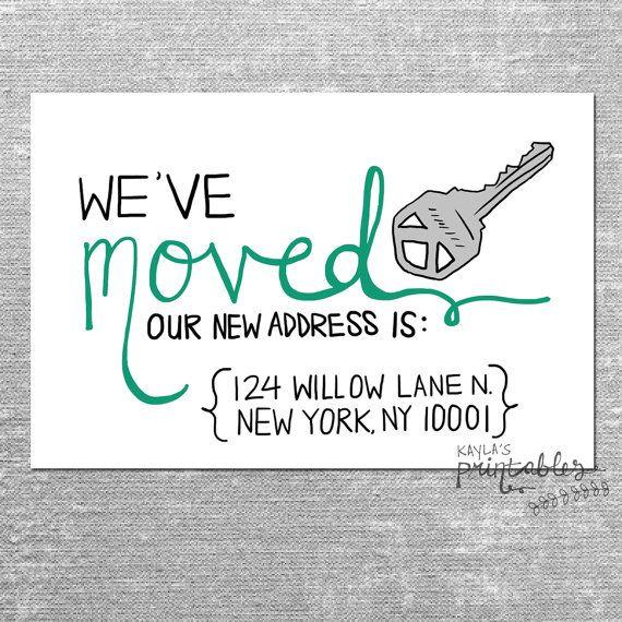 we 39 ve moved card with custom address 4x6 printed card. Black Bedroom Furniture Sets. Home Design Ideas
