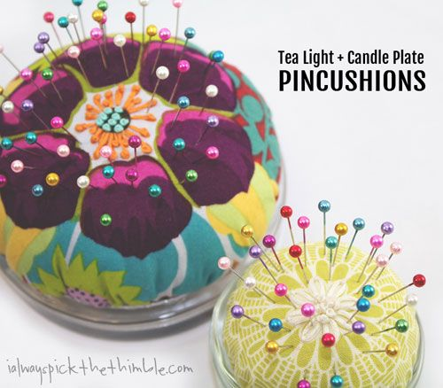 Free Sewing Pattern and Tutorial - Tea Light & Candle Plate Pincushions