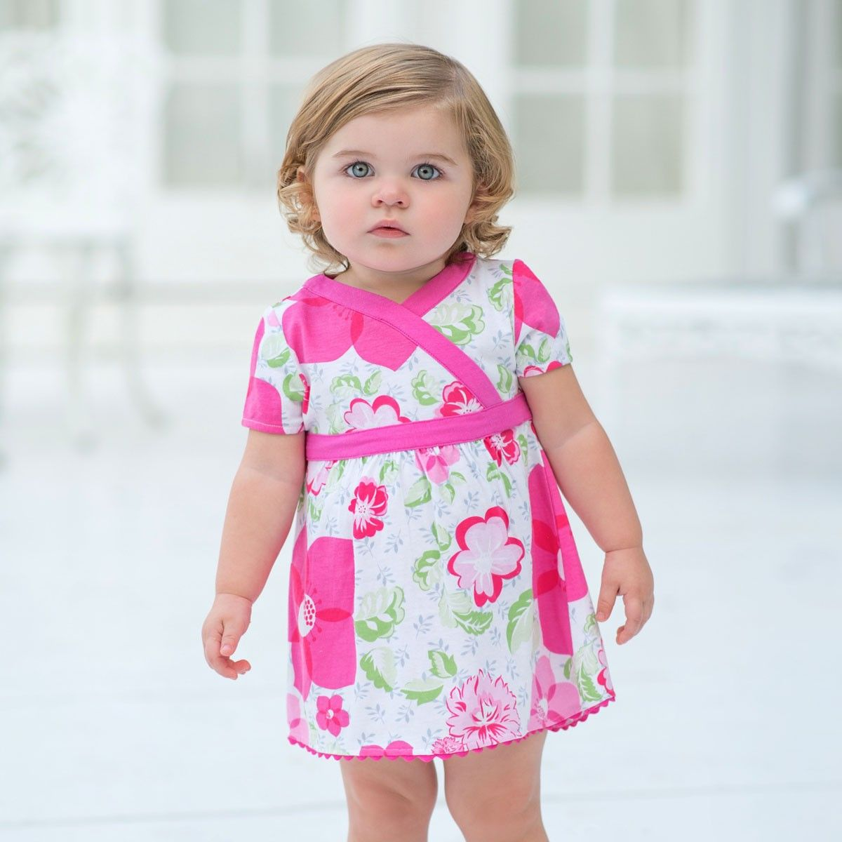 Pink dress for girl  Printed Cotton Baby Dress  Dresses  Girls  Dave Bella Kids