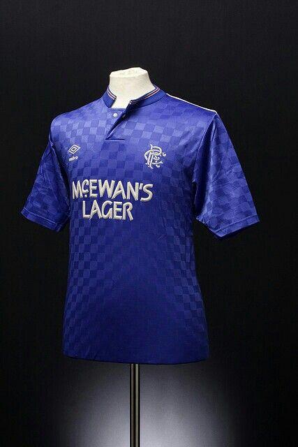 42a0cac19b4 87-89 shirt. | Glasgow Rangers | Rangers football, Football ...
