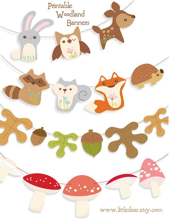 photo about Printable Woodland Animals called Brighten up your house with this adorable, colourful Woodland
