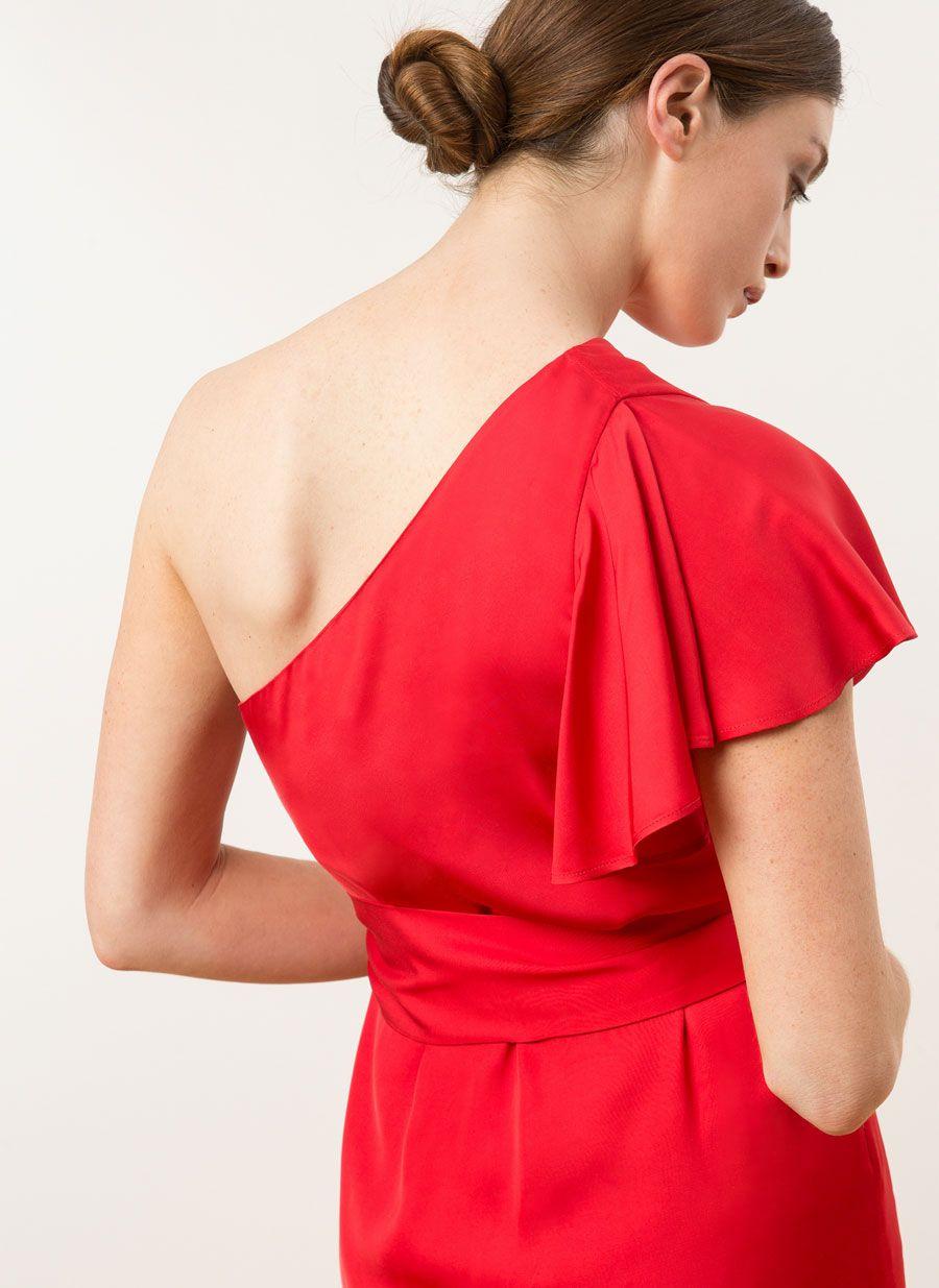 453dee47366 Vestido volante rojo - Ver todo - Última semana - Uterqüe España