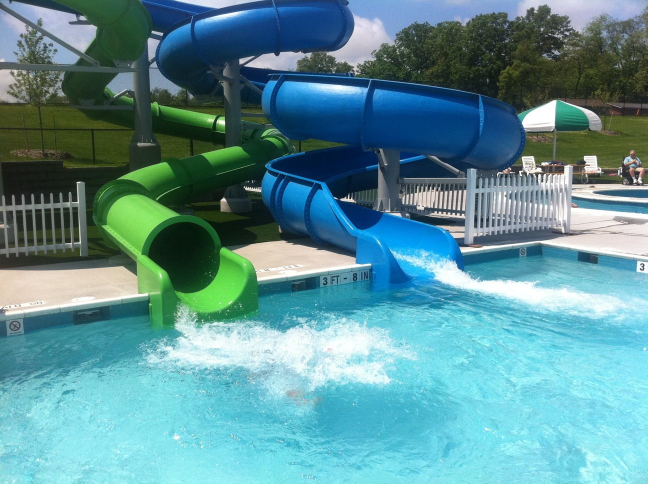 swimming pool slides in state college ride the slides - Cool Indoor Pools With Slides