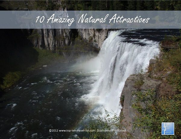 10 must-see natural attractions! Amazing waterfalls, beautiful state parks, and scenic drives! #travel #mustsee