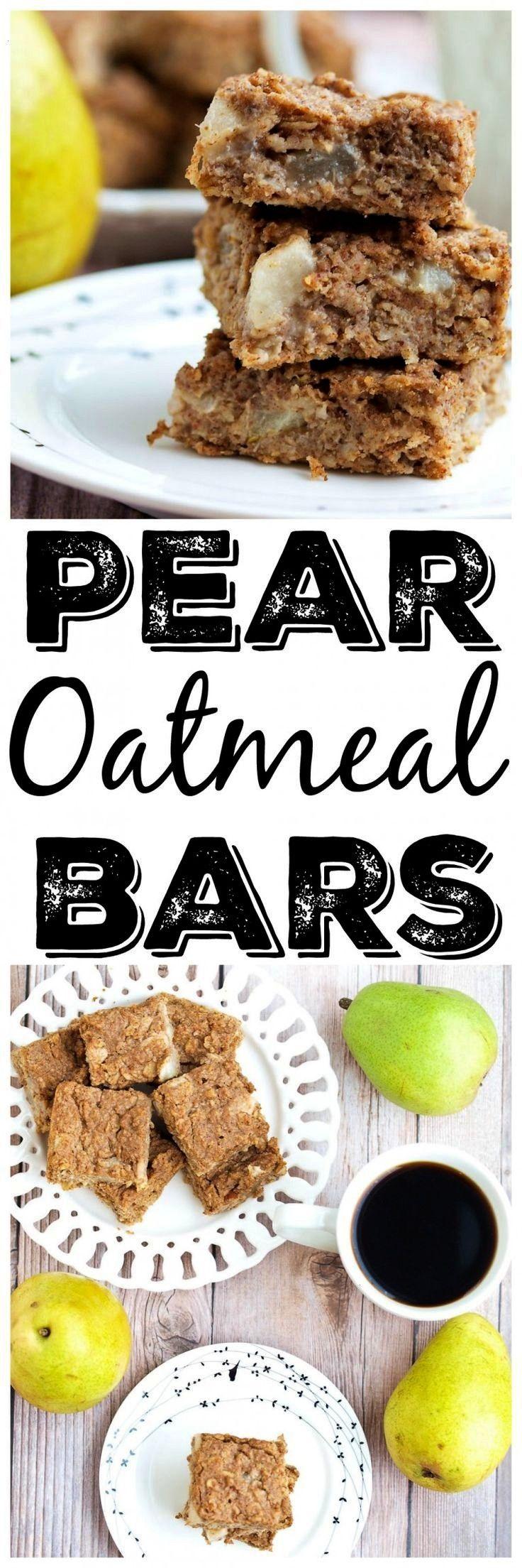 + GF Pear Oatmeal Bars Pear Oatmeal Bars, Vegan, Gluten Free, and No added sugar in these babies! T