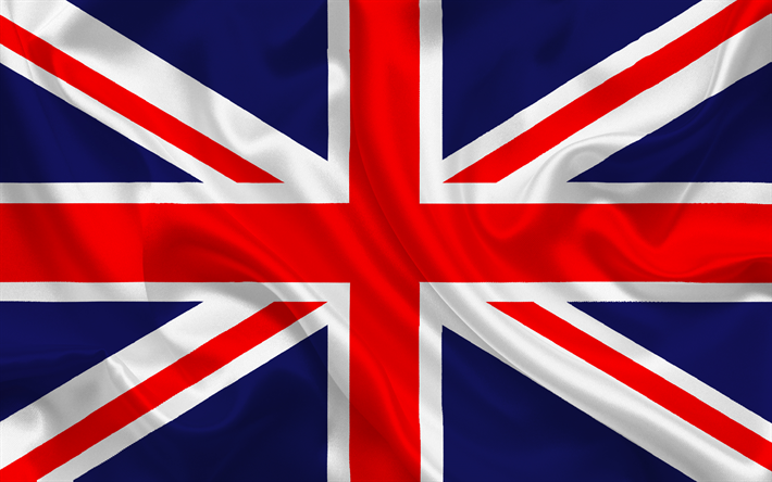 Download Wallpapers British Flag Great Britain Silk Flag Of Great